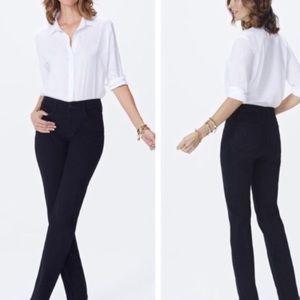 Nydj Marilyn straight black lift tuck jeans